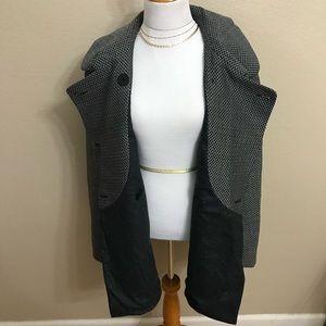 Giorgio Armani double breasted pea coat pop up